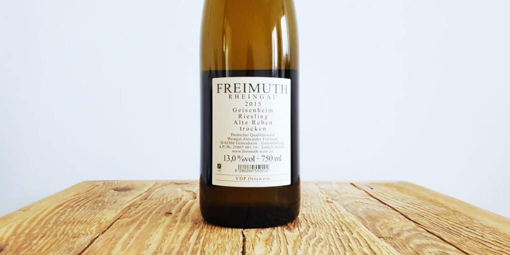 Freimuth Riesling Etikett